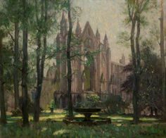 Newstead Abbey, the Monk's Wood, Nottinghamshire (Newstead Abbey, from the North West). Arthur Spooner (British, 1873-1962),