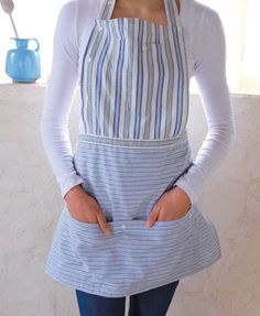 Maybe I will take up sewing!   Ha ha!  Repurpose Men's Shirts into Aprons - I have 2 shirts just waiting for me to find this pin!:)