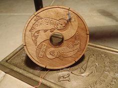 Wooden Tenkara Line Spool. See more here: http://www.tenkaratalk.com/2013/12/zen-flyfishing-gear-wood-tenkara-line-spool/