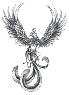 25 Best Phoenix Tattoo Designs - I Want This - . - 25 Best Phoenix Tattoo Designs – I Want This – - Skull Tattoos, Forearm Tattoos, Body Art Tattoos, New Tattoos, Tatoos, Tattoo Thigh, Tattoo Ink, Best Back Tattoos, Sick Tattoo