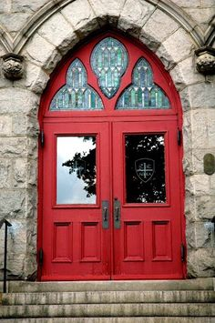 Would make some nice church doors.  I'd go through these, just to see what's inside. Then, if I found Jesus there, I'd stay. Simply, bold !