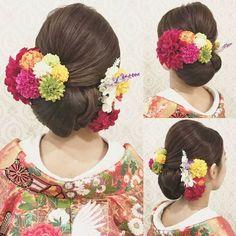 Evening Hairstyles, Wedding Hairstyles, Updo Styles, Hair Styles, Wedding Kimono, Japanese Wedding, Graduation Hairstyles, Hair Arrange, Hair Setting