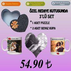 Özel kalpli hediye kutusunda 3lü Set sadece 54.90 TL ! #sevgilikombinleri #follow #like4like #beyazkupa #kisiyeozeltasarim #kişiyeözel #follow4follow #like4like #follow #followme #like #hediye #hediyelik #valentine #valentineday #lovely #loves #puzzles by sevgi_sepeti