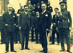İsmet İnönü, Kazım Özalp ve Ulu Önder Mustafa Kemal Atatürk