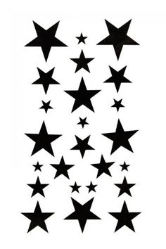 SPESTYLE waterproof non-toxic temporary tattoo stickersBody painting temporary tattoos waterproof temporary tattoo black star. Easy to put on and stay for more than one week;. Transfers completely - with no loss of color or cracks, looks as bright on skin as it looked on paper before applying;. Can be remove easily;. High quality fashionable temporary tattoos that look real;.