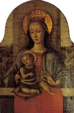 Carlo Crivelli-Madonna Speyer, 1455 circa, tempera su tavola, 28x18 cm, Venezia, Fondazione Giorgio Cini