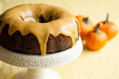 Chocolate Pumpkin Spice Bundt with Brown Butter Icing