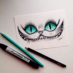 Stregatto Drawing Eyes, Cat Drawing, Drawing Sketches, Painting & Drawing, Hipster Drawings, Tumblr Drawings, Disney Drawings, Drawing Disney, Dibujos Tumblr A Color