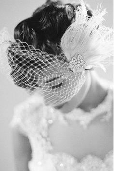 Wedding Hair Clip Bridal FascinatorFrench Net by kathyjohnson3