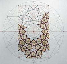 La decoración geométrica del arte musulmán toma como figura perfecta el círculo, a partir del cual traza nuevas formas poligonales que se extienden en redes normalmente simétricas hasta el infinito. Esta decoración está cargada de simbolismo, a través de conceptos como la infinitud y la indivisibilidad de Dios.