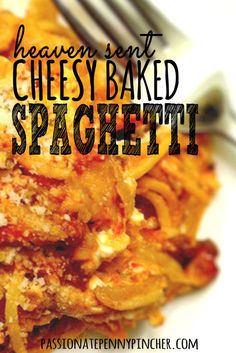 This heaven sent cheesy baked spaghetti is the best spaghetti you'll ever eat! A simple recipe that your taste buds will love!