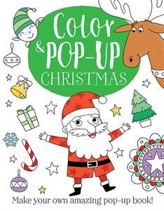 Celebrate the season with this holiday coloring activity book with pop-up Christmas images. These are coloring books like no other – 8 spreads and 8 press-out pieces to color that pop up when glued or taped in the book. Let's get popping!
