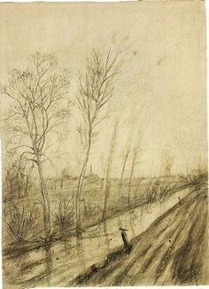 Ditch The Hague: Autumn, 1872-Spring, 1873 (Amsterdam, Van Gogh Museum)