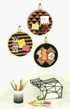 Cork and Leather Hanging Memo Boards #DIY