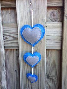 Hartjesslinger blauw/grijs