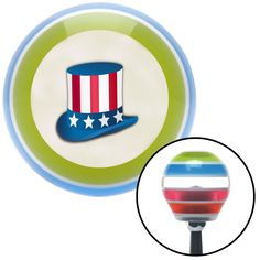 Uncle Sam Hat Stripe Shift Knob with M16 x 15 Insert - Give your interior the ultimate look. American Shifter's Elite(TM) series shift knobs are made from the highest quality components resulting in a superior feel on every shift. Each shift knob is designed and customized in the USA by skilled shift knob artisans who have a trained eye on every detail. American Shifters shift knobs offers an exclusive aluminum threaded insert designed to be screwed onto your shift arm. You should avoid…