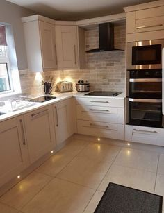 Remodeling Kitchen Lighting That corner cupboard, that's what I have in mind for above the new sink Home Decor Kitchen, Kitchen Interior, New Kitchen, Home Kitchens, Kitchen Units, Kitchen Ideas, Ovens In Kitchens, Kitchen Corner Cupboard, White Kitchen Floor