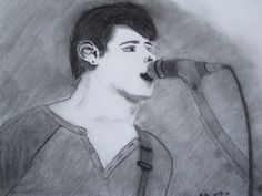 My drawing of Jay Enriquez of There For Tomorrow