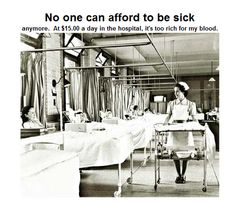 No one can afford to be sick ....