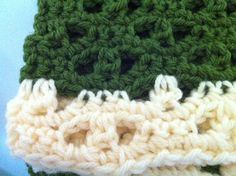 Beautiful Hand Crochet Women's Army Green Scarf by DisaDesigns, $40.00