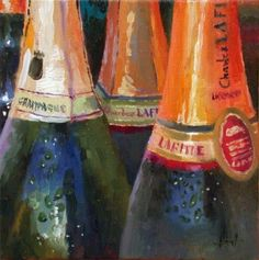 Ready for New Years Eve, painting by artist Liza Hirst