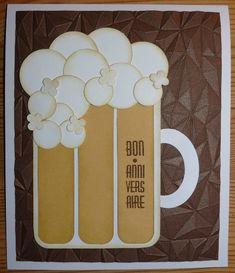 Carte anniversaire : chope de bière ...