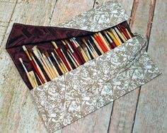 Artist Brush Roll  Brush Roll Up  by inneedlesandstitches on Etsy