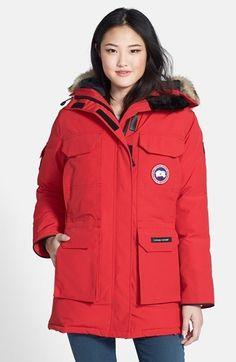 Veste canada goose femme rouge