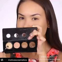"""#Repost @motivescosmetics with @repostapp.  PERFECTION @maryamnyc PRESS PLAY my contouring routine using @motivescosmetics #motivesmavens Sculpt Series cream contour kit in Fire (for warm skin tones). I'm """"baking"""" aka setting with @dermablendpro setting powder and using a @beautyblender to blend contour and apply setting powder. This technique focuses more on highlighting and lifting the face since I'm trying to stay away from heavy contouring for the summer. Let me know your thoughts Video…"""