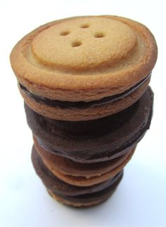 Stack of Button Biscuits