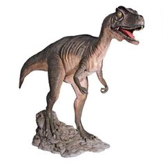 """Allosaurus Dinosaur Statue (Open Mouth) $2,500.00  Description 125½""""Wx33″Dx71½""""H. 125 lbs. Made of Fiberglass & Resin Freight Cost  to the LOWER 48 United States is included in the price.. the shipping charge that will show in the shopping cart will cover boxing/crating and handling charges."""