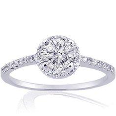 Diamond Engagement Rings Halo Setting 45