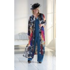 Florentyna Dawn Firework Long Jacket in the Finest Chiffon