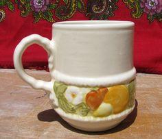 Metlox Pottery Poppy Trail Vernon Ware Della Robbia Mug! Rare Great condition #Metlox