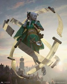 Tamiyo, Collector of Tales. MtG War of the Spark Art by Chase Stone. Character Concept, Character Art, Concept Art, High Fantasy, Fantasy Rpg, Fantasy Story, Fantasy Inspiration, Character Inspiration, Chase Stone