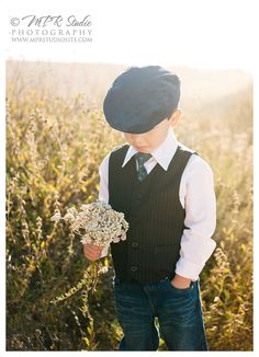 Posh Poses | Kid Pics | Little Boys & Bouquets | Glowing Fields | Little Man