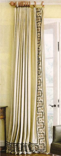 design dump: window treatments: details and trim
