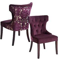 Purple Damask Chairs. LOVE!