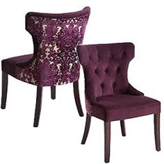 Purple Damask Chairs. LOVE!