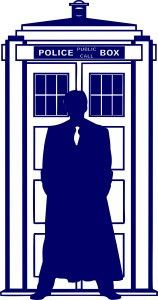 10th Doctor Who Silhouette Tardis | Die Cut Vinyl Sticker Decal | Sticky Addiction
