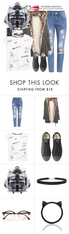 """""""all i want is to feel again"""" by emmafromrio ❤ liked on Polyvore featuring Pull&Bear, MANGO, Converse, Humble Chic, Ray-Ban and Kate Spade"""