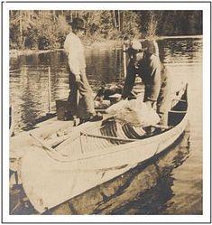Photo: birch bark canoe, 0c.1904, Keewaydin Camp, Temagami