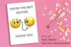 Nurse Thank You Card, Instant download Favor Tag, You print Thank You Card , Nurse and Doctor gift card Print Thank You Cards, Printable Thank You Cards, Thank You Tags, Diy Shops, Doctor Gifts, Good Doctor, You're Awesome, Favor Tags, Diy Party