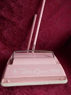Vintage 1950'S BISSELL Little Queen Pink Vacuum Sweeper Still Works Amsco