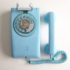 Stromberg Carlson 1553 Powder Blue Turquoise Wall Mount Rotary Dial Phone - SOLD!