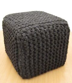 Knit a cover for the ottoman (no pattern)