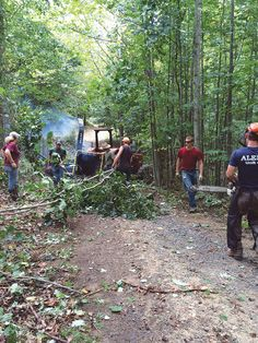 """The Benefits of Smart Forest Management"" - Thinning trees intelligently and practicing informed forest stewardship can aid fire suppression as well as providing acres of compost for your farm or market garden. From MOTHER EARTH NEWS"
