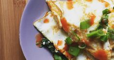 EGG WHITE OMELET WITH SPINACH, KALE AND SHARP CHEDDAR