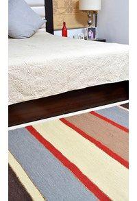 New Durries,The Carpet Cellar,Indian Durry<br>TCC-5934<br>6 Feet X 4 Feet