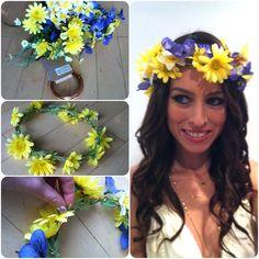 how to make flower headband
